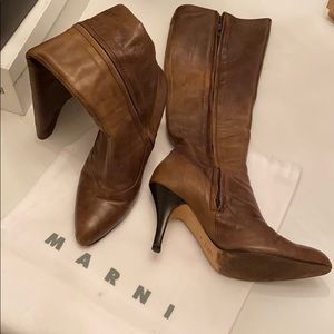 Marni boots with keeper bag